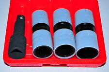 Astro 78803 1/2 In Dr Thin Wall Flip Impact Socket Set 3 pcs with extension bar