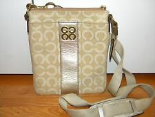 COACH 45536  Signature C JULIA Metallic Optic Art Swingpack Purse Crossbody Bag