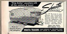 1960 Print Ad Shasta Travel Trailers Completely Self Contained