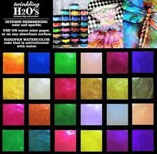 24-pk ColourArte Twinkling H2O's KIT #2452 Watercolor Paint Mixed Media