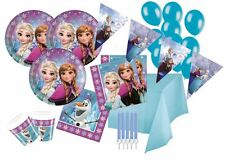 84 tlg. Eiskönigin Nordlichter Party Deko Set für 16 Kinder zum Kindergeburtstag