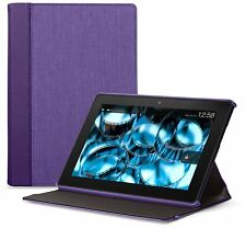 """Belkin Blacktop Chambray Stand/Cover for Kindle Fire HDX 7"""" Purple/Plum"""