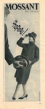 PUBLICITE ADVERTISING    1961   MOSANT  impérméable femme
