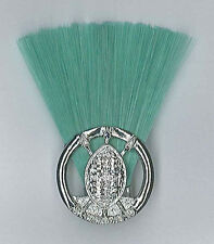 SCOUTS OF SWAZILAND SCOUT LEADER / MASTER (GREEN COLOUR) Metal Plume / Hat Patch
