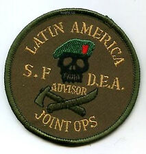 Patch, SPECIAL FORCES DEA JOINT OPS to LATIN AMERICA CATCH-or-KILL Pablo Escobar