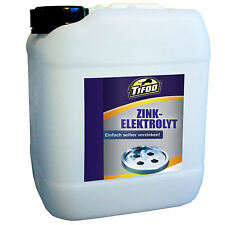 Zinkelektrolyt 5 L, selbst Verzinken, galvanisch Zink, Korrosionsschutz, Zink
