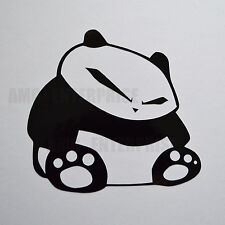 Black Panda Decal Sticker Vinyl for Fiat Grande Punto Evo Sporting Coupe Stilo