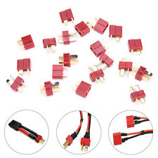 20X 10 Pairs T Plug Male & Female Connectors Deans Style For RC LiPo Battery WR