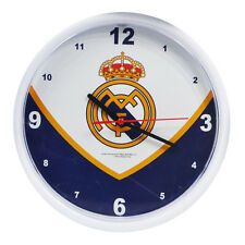 Official Licensed Football Product Real Madrid Wall Clock Swoop Crest Gift New