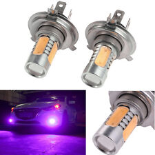 2x Purple Luxeon Xenon HID 33 SMD H4 LED Driving Fog Lights Bulbs Aluminum 12V