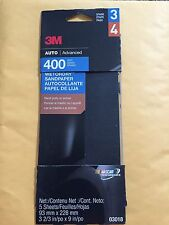 3M Auto Advanced 400 Grit Wetordry Sandpaper 03018 5 Sheets Per Pack Stage 3 4