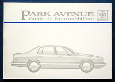 Owner's Manual * Betriebsanleitung 1995 Buick Park Avenue  (F)