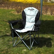 Heavy Duty Folding Deluxe Chair Camping Lumbar Support Lightweight Portable