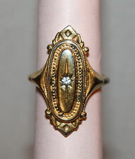 Charming Vintage 1976 AVON KENSINGTON Antiqued Gold Victorian Style RING--sz 7