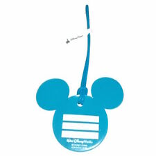 disney parks mickey mouse icon blue luggage bag tag new with tag