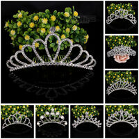 Women Wedding Bridal Prom Tiara Crown Crystal Diamante Hair Comb Headband Party