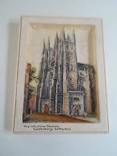 Retro Ivorex Osborne 3D Wall Plaque THE WESTERN TOWERS CANTERBURY CATHEDRAL