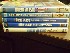 (5) Ice Age DVD Lot: Ice Age 1, 2, 3 & 4 + Christmas Special    (3) NEW