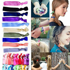 30xWomens Elastic Bracelets Knot Rubber Band Hair Tie Hairband Ponytail Holder