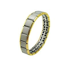 Original Nano Energy titanium bracelets powerful  Pain Relief, Gold and Silver