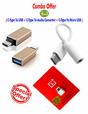 Type C to OTG+Micro Usb+3.5mm Audio Adapter Converter