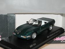 Detalle cars 214, Chevrolet Corvette Zr 1 cabrio, 1990, verde, 1/43, embalaje original
