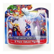 """Marvel Avengers - Thor, Captain America & Hawkeye - 3 Pack Deluxe 4"""" Figure Pack"""