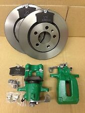SKODA OCTAVIA VRS RS TURBO 1.8 REAR BRAKE PACKAGE CALIPERS PADS DISCS  1084