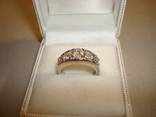 Diamonique Sterling Silver 925 Eternity Ring QVC Size L