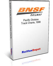 BNSF Pacific Division Track Chart 1998 - PDF on CD - RailfanDepot