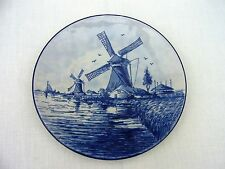 Delft plate blue mill signed