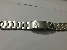 NEW FORTIS 20MM STAINLESS STEEL GENTS WATCH STRAP,MATTE FINISH,FLIEGER