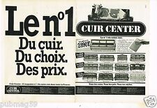 Publicité advertising 1981 (2 pages) Mobilier Canapé Cuir Center