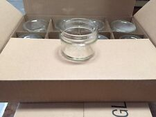 Lot of 2 Cases (24) 4 OZ Smooth JELLY Candle-Canning JARS Choice Sealing Lids