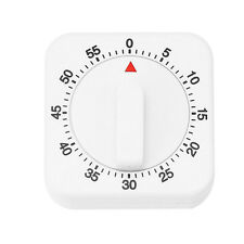 60 Minutes Mechanical Timer with Alarm for Kitchen Cooking White Timer