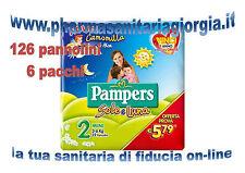 126 PANNOLINI PAMPERS SOLE E LUNA TAGLIA 2 MINI(3-6KG) 6 PACCHI DA 21 PEZZI CAD.