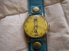 Vintage Mr. Peanut Watch Swiss Made Date