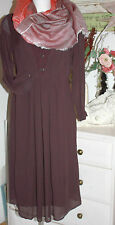 Noa Noa  Kleid Dress September Plum Perfekt Langarm  size:38  Neu