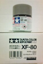 Tamiya acrylic paint XF-80 Royal light Grey. 10ml Mini.