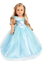 Cinderella - Clothes for 18 American Girl Doll, Disney Blue Gown Silver Slippers