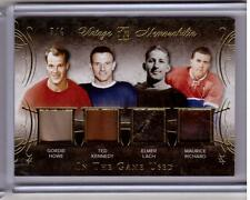 GORDIE HOWE KENNEDY ELMER LACH MAURICE RICHARD /15 Leaf Glove Patch GOLD #d 3/4