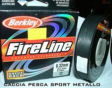 FireLine BERKLEY 0,32 mm 270 mt 23,5 kg DYNEEMA trecciato braid smoke fumee