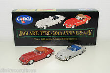 CORGI TOYS 97680 SET JAGUAR E TYPE E-TYPE 30TH ANNIVERSARY GREY RED MINT BOXED