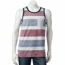 LEVIS Striped Multi-Colored Tank Top Sleeveless T Shirt Mens NWT X Large XL