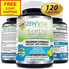 NEW 95% HCA Pure Garcinia Cambogia Extract - 120 Capsules, Highest Potency