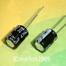 100 PCS 470UF/35V 10x15mm Radial Electrolytic Capacitors 35V 470UF 105℃