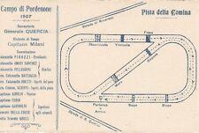 A4079) PORDENONE, PISTA DELLA COMINA, CAMPO DI CAVALLERIA 1907. BIPARTITA.