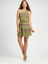 M MISSONI LEMON ONE SHOULDER MINI KNIT DRESS,NEW,SMALL,ORIG$750