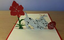 3D Handmade Pop up Cutie Puppy Greeting card - Birthday, Thank you, Get Well