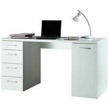 Scrivania ufficio studio anta e cassettiera laterale bianco SR0481 L139h74p60